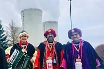 Delegace Tří králů s družinou v JE Dukovany.