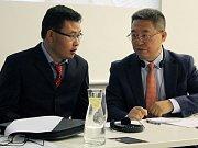 Prezentace čínské společnosti China General Nuclear v Třebíči.
