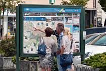 Turisté v Třebíči