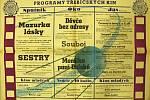 Plakát třebíčských kin. Kino Moravia na něm nese jméno Sputnik.