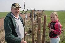 NOVÁ ALEJ. Novou alej vysadili v sobotu za obcí obyvatelé Kožichovic.
