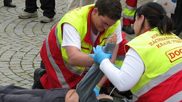 Evropský den záchrany života se uskutečnil na Karlově náměstí.