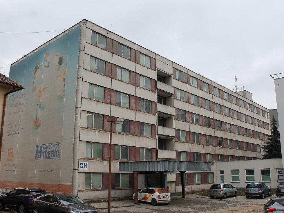 Panelák staré chirurgie (CH) v Nemocnici Třebíč