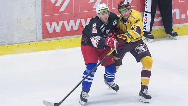 15. kolo hokejové Chance ligy mezi SK Horácká Slavia Třebíč a HC Dukla Jihlava.