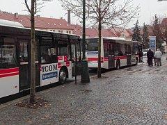 Hromadná autobusová doprava v Třebíči, ilustrační foto.