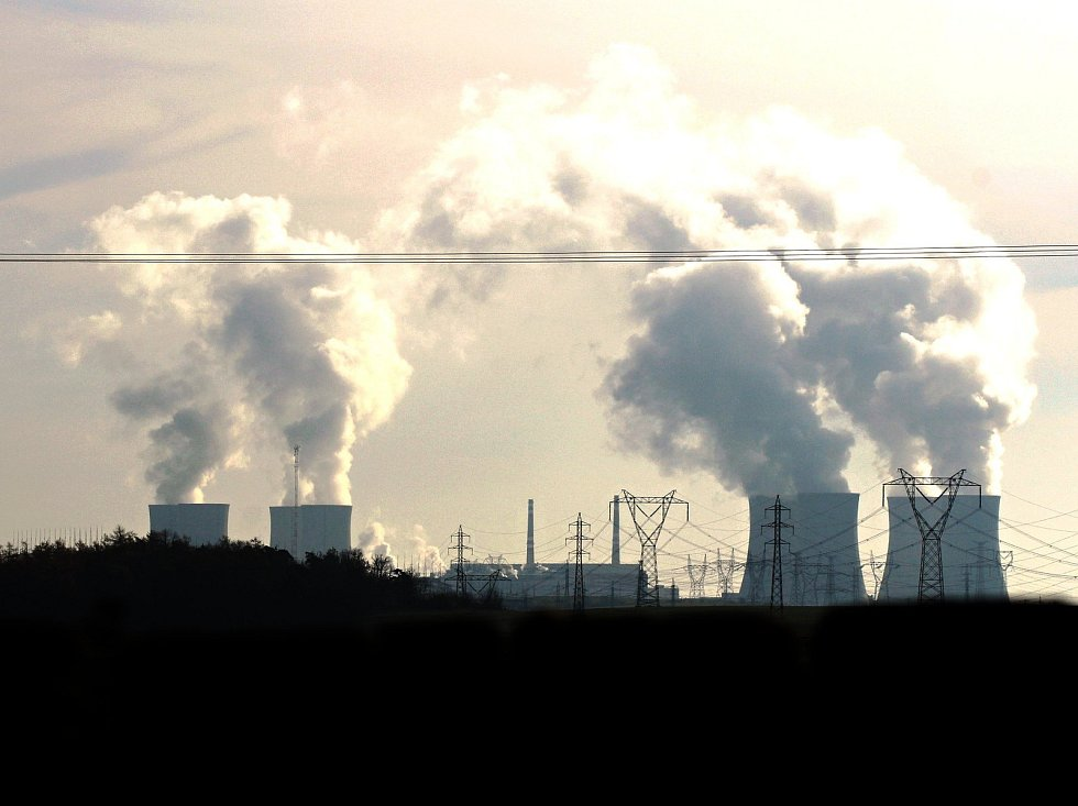 Jaderná elektrárna Dukovany ve středu 22. listopadu 2017.