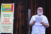 Zahájení výstavy dvorního výtvarníka Folkových prázdnin Rostislava Pospíšila v Galerii 12.