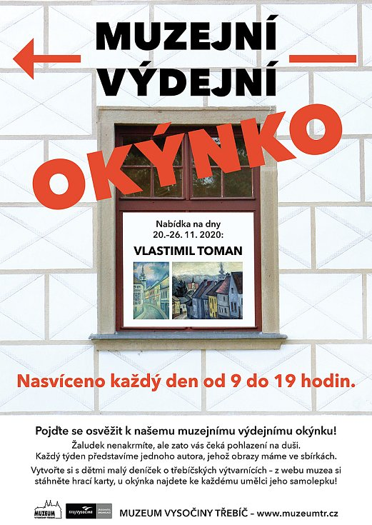 Informační plakát k výdejnímu Okýnku.
