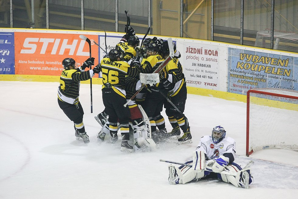 Hokejový tým Moravských Budějovic.