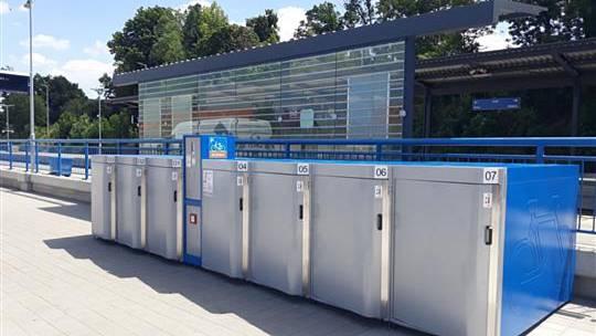 Bikeboxy na třebíčském terminálu.