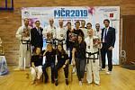 Třebíčští závodníci na Mistrovství České republiky 2019 v taekwondu ITF.