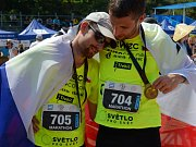 Cíl maratonu v Číně.