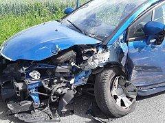Nehoda u Vícenic.