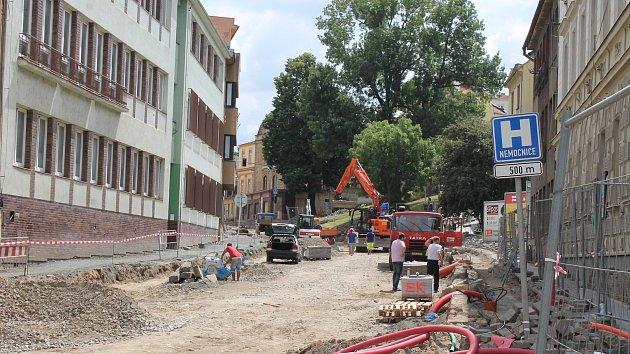 Rozkopané silnice v Třebíči