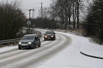 Na Třebíčsku sněží.