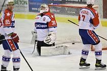Třebíčští hokejisté smutní. Druhou výhru v sérii proti Slavii Praha nepřidali. Po porážce 0:2 je stav vyrovnaný.