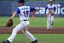 Marek Krejčiřík z Třebíče excelentně uzavřel finálové utkání na nadhozu a byl vyhlášen nejlepším nadhazovačem Českého baseballového poháru U15.