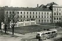 Budova jihlavské věznice a soudu na konci padesátých let.
