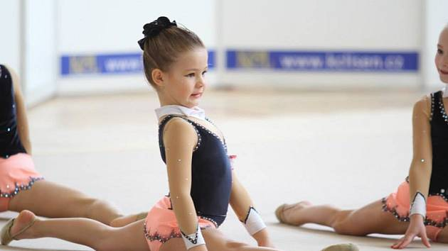 Největší nadějí oddílu SK MG Baver Třebíč jsou právě nejmenší gymnastky.
