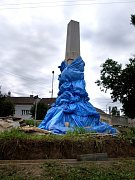 SOLITÉR V ŽELETAVĚ. Na náročnou opravu pomníku v Želetavě přispěla obec, kraj i ministerstvo obrany.