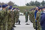 Uctění památky válečných veteránů před radnicí v Náměšti nad Oslavou.