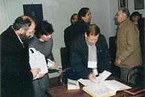 Václav Havel v Jaroměřicích nad Rokytnou.