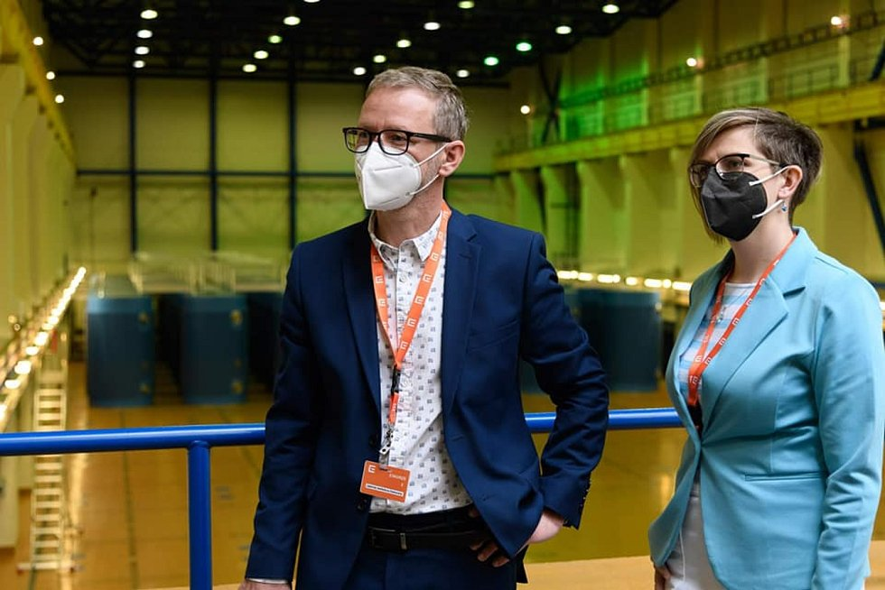 Hejtman Vítězslav Schrek a náměstkyně Hana Hajnová navštívili Jadernou elektrárnu Dukovany. Sešli se i s předsedkyní Státního úřadu pro jadernou bezpečnost Danou Drábovou.
