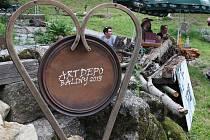 Výstava Art Depo ve starém mlýně v Balinách.