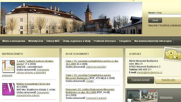 Web Moravských Budějovic.