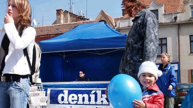 Den s Deníkem na náměstí v Jemnici se místním lidem líbil.