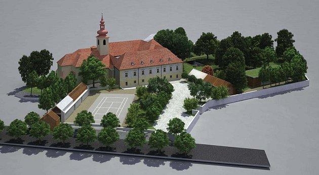 Projekt obnovy zámeckého areálu představený Studiem Anarchitekt počítá s výstavbou četných nových prvků.  Například v parkové části bude vystavěn nový wellness objekt, který bude obdobou původní oranžerie.