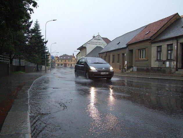 Bouřka v Třebíči.