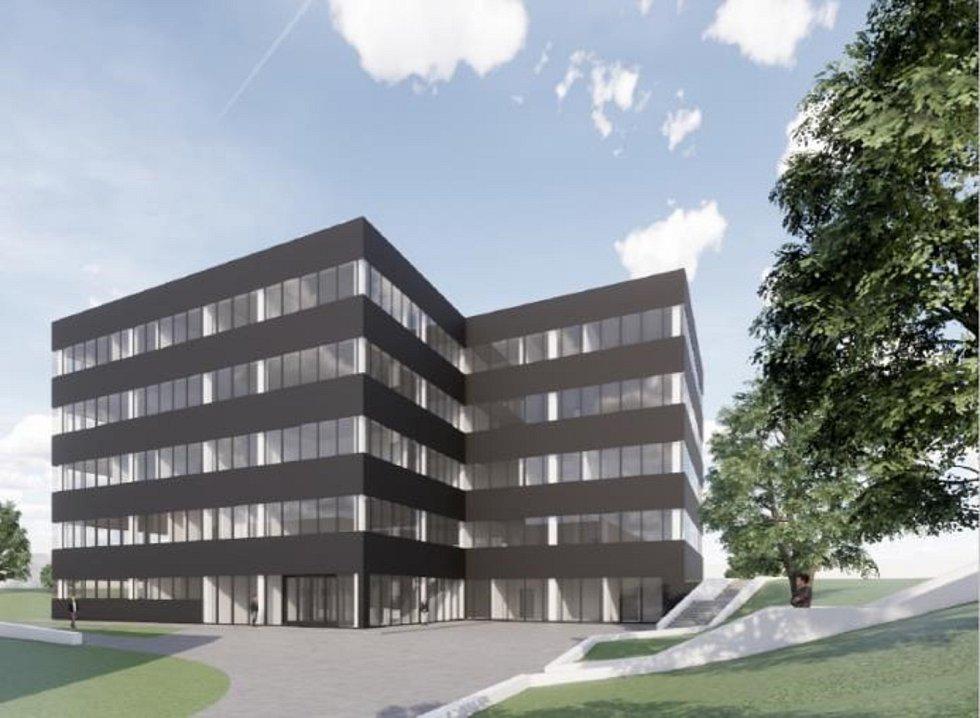 Nová administrativní budova s výcvikovým centrem u dukovanské elektrárny.