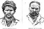 Dobové noviny o případu hojně informovaly, otiskly i podobizny vrahů.