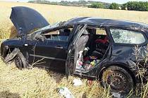 Nehoda u Jemnice. Foto: HZS Kraje Vysočina