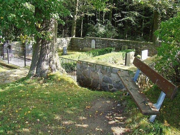 Hřbitov v Hluboké se rozkládá na 102 metrech čtverečních.