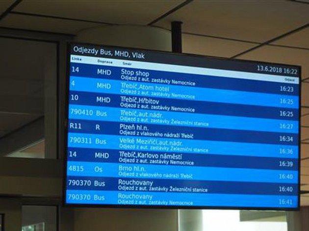 Nové informační panely ukazují aktuální zpoždění
