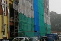 Budova Obchodní akademie a hotelové školy v Třebíči - Borovině se také letos v létě dočkala oprav.