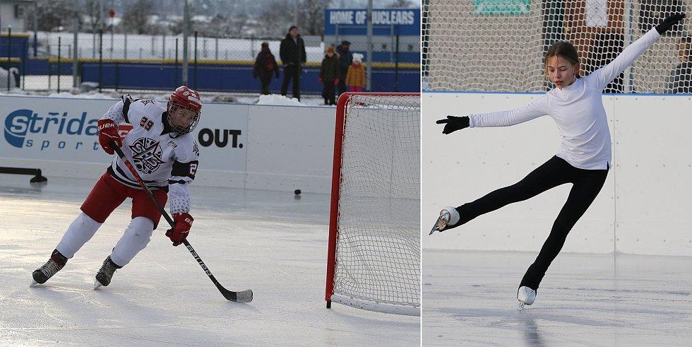 Umělá ledová plocha Na Hvězdě se stala útočištěm pro krasobruslařky a hokejisty, kteří momentálně na zastřešených zimních stadionech trénovat nemůžou.