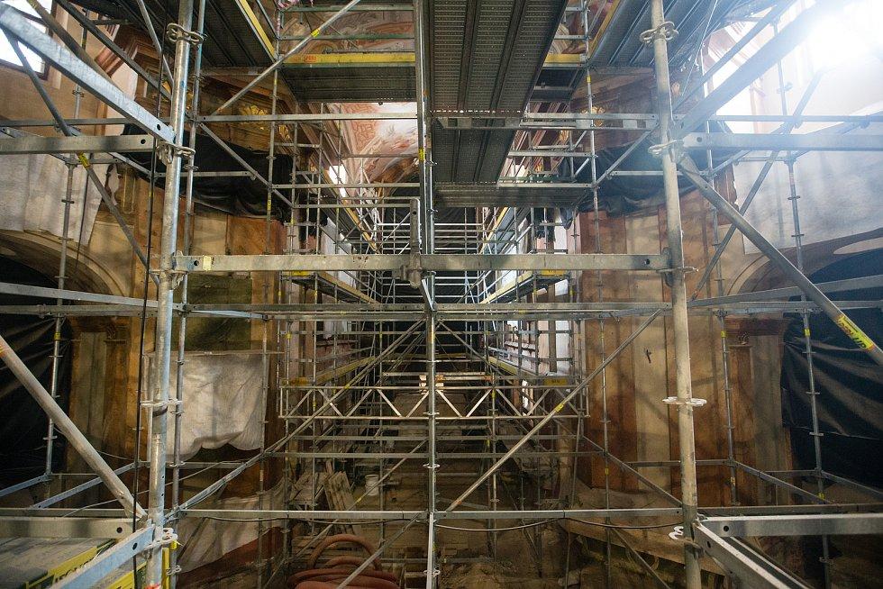Rekonstrukce chrámu svaté Markéty v Jaroměřicích nad Rokytnou.