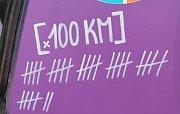 Počítadlo ujetých kilometrů.