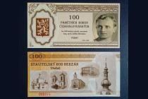 Bankovky je možné koupit pouze v knihkupectví Jakuba Demla na Karlově náměstí v Třebíči. Cena je 99 Kč za kus.