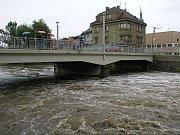 Povodně v roce 2002 na Třebíčsku. Záplavy v Třebíči a okolí.