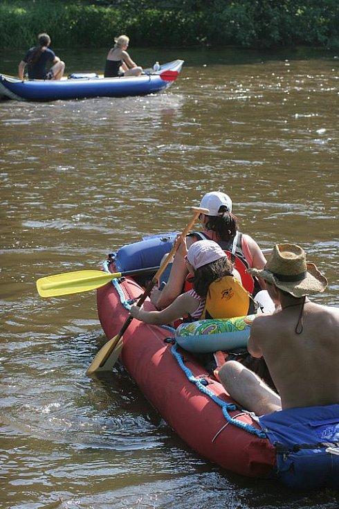 Vodáci na řece Jihlavě.