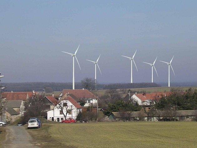 Ukázka možného budoucího pohledu na okolí vesnice Litovany.