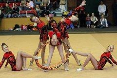 Městská sportovní hala v Třebíči hostila letošní největší tuzemský závod moderních gymnastek.