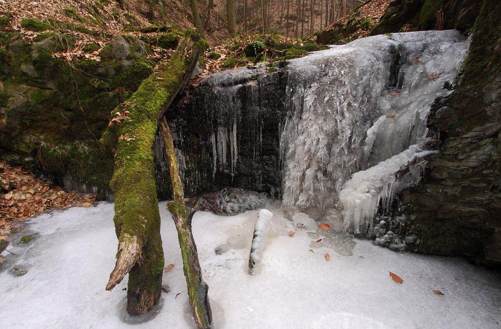 Zima na Sedleckém potoce.