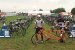 Ondřej Zmeškal na trase závodu Ironman.