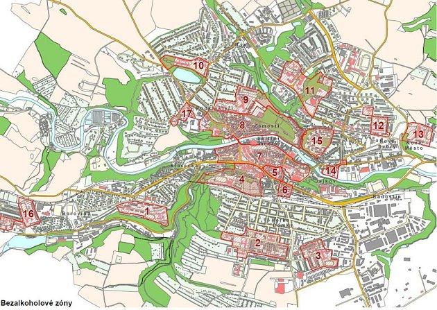 Oblasti, na které se vztahuje vyhláška, jsou označeny červeně.