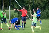 Čtvrtfinále krajského poháru mezi Hamry nad Sázavou a Náměští nad Oslavou.